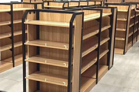 超市专用钢木货架批发
