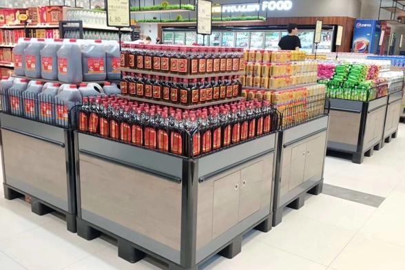 超市货架促销台展架