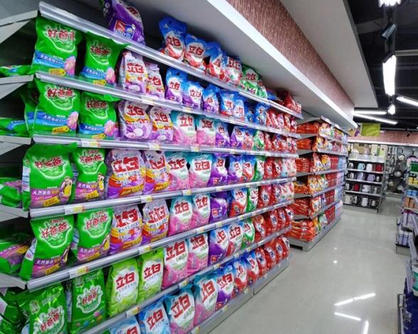 超市货架单面亚白河南厂家