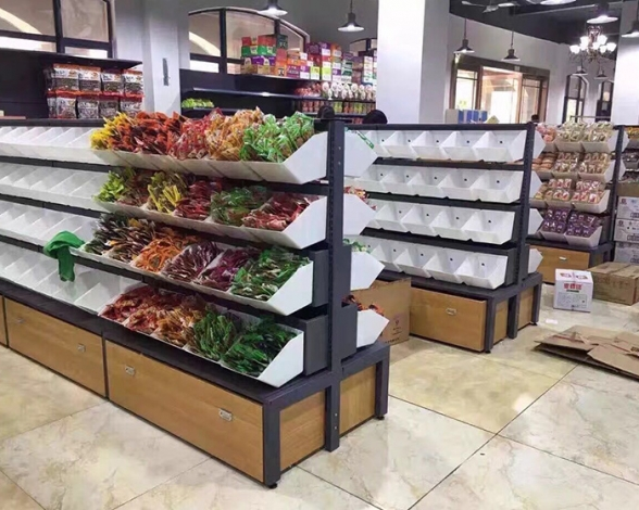 超市零食架双面