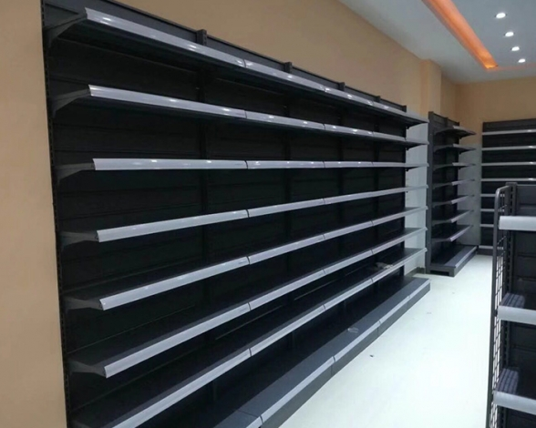 单面超市货架磨砂灰