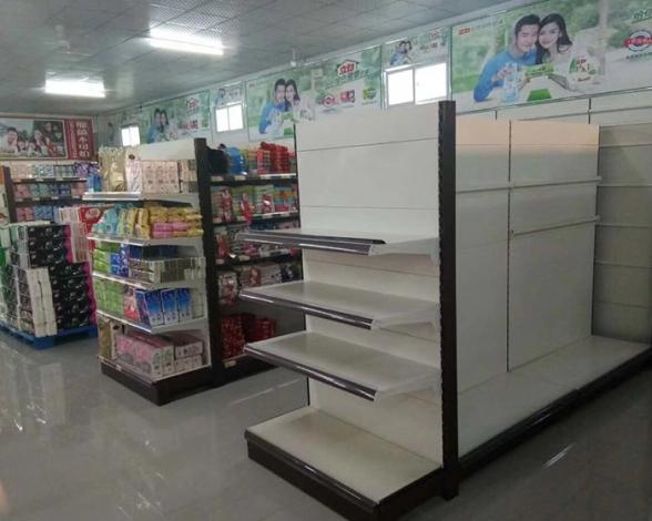架双面亚白超市货架