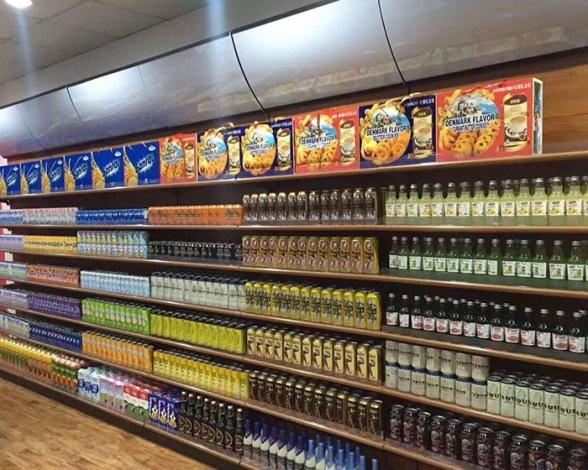 单面饮品超市货架
