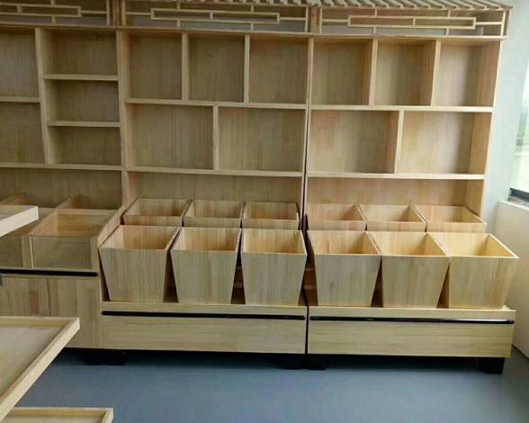木质货架米斗展示架