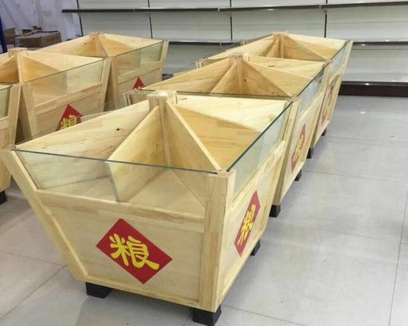 杂粮专用木质货架