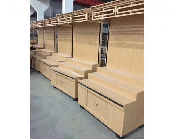 郑州高档木质货架私人订制