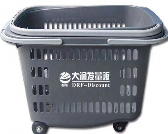 郑州超市手提篮带滑轮