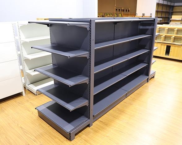 磨砂黑单双面超市货架